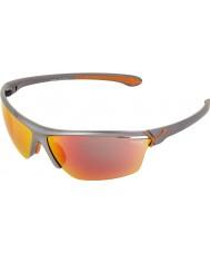 Cebe Cinetik gafas de sol de color gris metálico grande