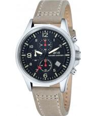 AVI-8 AV-4001-03 Mens Hawker Harrier reloj cronógrafo correa de piel de camello luz ii