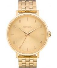Nixon A1090-502 Damas flecha todo reloj pulsera de acero de oro