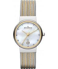 Skagen 355SSGS Damas klassik reloj de acero de dos tonos