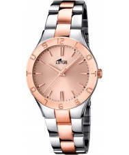 Lotus 15896-2 Las señoras de moda reloj color de rosa de color oro bi