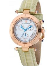 Klaus Kobec KK-10012-09 Damas couture reloj de la correa de cuero patrón de lagarto verde 39mm