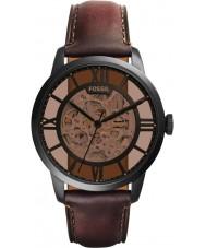 Fossil ME3098 cuero marrón reloj automático para hombre del hombre de la ciudad