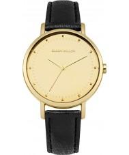 Karen Millen KM139BG reloj de la correa de cuero negro de las señoras