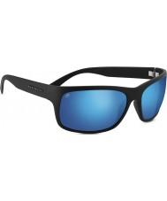 Serengeti 555nm negro polarizado gafas de sol azules de satén Pistoia