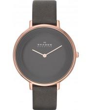 Skagen SKW2216 Damas DITTE reloj de la correa de cuero gris