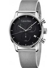 Calvin Klein K2G27121 ciudad para hombre de acero de plata reloj cronógrafo de malla