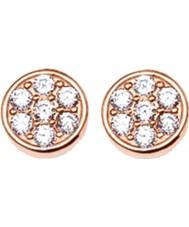 Thomas Sabo H1848-416-14 Las señoras con gas óxido de circonio de extendido círculos rosa de aretes de oro
