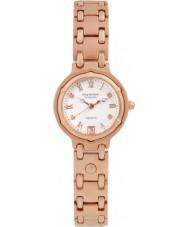 Krug-Baumen 5116RDL Charleston 4 diamantes rosa, correa de oro esfera de oro