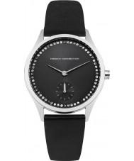 French Connection FC1272BB reloj de la correa de cuero negro de las señoras
