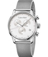 Calvin Klein K2G27126 ciudad para hombre de acero de plata reloj cronógrafo de malla