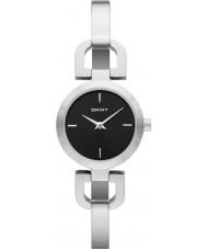 DKNY NY8541 Reade damas reloj de plata negro
