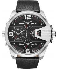 Diesel DZ7376 reloj de cuero negro para hombre jefe súper