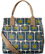 Orla Kiely 17SELBR100-4110 Las señoras aman pájaros cremallera bolsa de mensajero