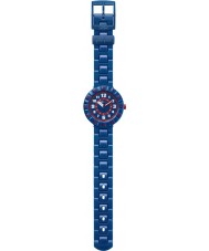 Flik Flak FCSP040 reloj de la correa de silicona azul marino chicos serio