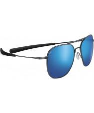 Serengeti Aérea brillante bronce oscuro polarizado gafas de sol 555nm azul espejo