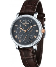 Thomas Earnshaw ES-8048-02 Mens longcase calendario maestro de barro marrón reloj de la correa de cuero
