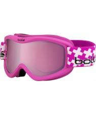 Bolle 21362 Voltios además cruz de color rosa mate - arma vermillon (6+ años) gafas de esquí
