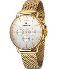 Thomas Earnshaw ES-8001-22 Para hombre chapado en oro investigador reloj cronógrafo