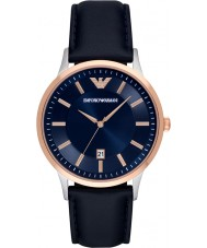 Emporio Armani AR2506 Reloj para hombre de la correa de cuero azul clásica