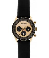 Zadig and Voltaire ZVM117 reloj cronógrafo de cuero negro maestro