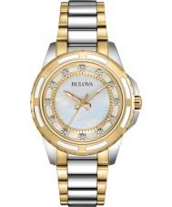 Bulova 98S140 Señoras de dos tonos reloj de pulsera de acero