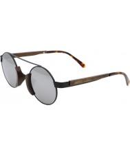 Swole Panda gafas de sol polarizadas de bambú marrón Morpheus