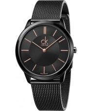 Calvin Klein K3M21421 Reloj para hombre pulsera de malla de acero negro mínimos