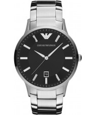 Emporio Armani AR2457 Reloj para hombre clásico negro de plata