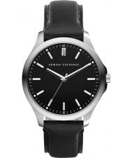 Armani Exchange AX2149 reloj del vestido de la correa de cuero negro de los hombres