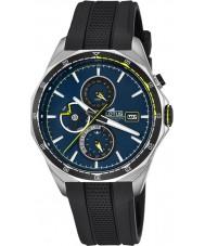 Lotus L18321-2 reloj de pulsera de caucho negro para hombre multifuncional