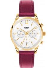 Henry London HL39-CS-0070 Damas Holborn reloj cronógrafo borgoña blanco