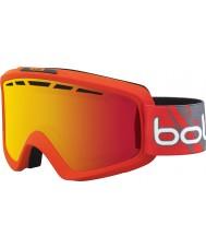 Bolle 21469 ii gradiente de color rojo mate Nova - gafas de esquí de naranja de fuego