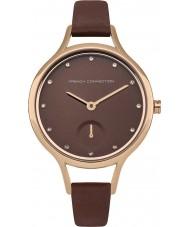 French Connection FC1274TRG reloj de la correa de cuero marrón de las señoras