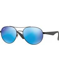 RayBan Rb3536 55 highstreet negro mate 006-55 gafas de sol de espejo azules