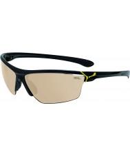 Cebe Cinetik grandes gafas de sol amarillas de color negro brillante