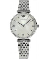 Emporio Armani AR1682 Señoras de la perla y el reloj del vestido de plata