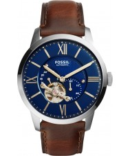 Fossil ME3110 reloj de la correa de cuero de color marrón oscuro para hombre de paisano