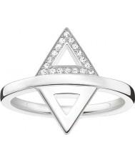 Thomas Sabo D-TR0019-725-14-54 Damas Glam y el alma de ley 925 anillo de diamantes de plata - tamaño o (UE 54)