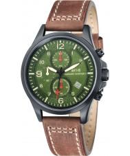AVI-8 AV-4001-04 Mens Hawker Harrier reloj correa de cuero marrón chocolate de cronógrafo ii
