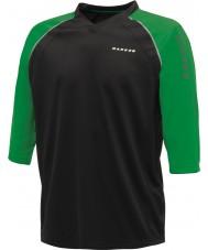 Dare2b El hombre marcó en negro camiseta verde jersey