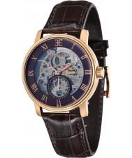 Thomas Earnshaw ES-8041-05 Mens westminster reloj correa de cuero marrón de barro
