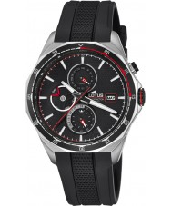 Lotus L18321-4 reloj de pulsera de caucho negro para hombre multifuncional