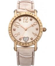 Lipsy LP150 Todo el reloj de las señoras de cocodrilo de cuero color crema