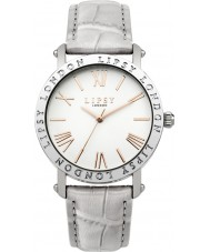 Lipsy LP454 reloj de la correa de cuero gris damas