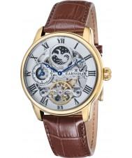 Thomas Earnshaw ES-8006-02 Mens longitud reloj de la correa de piel de cocodrilo marrón