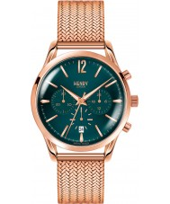 Henry London HL39-CM-0142 Damas stratford verde pato silvestre aumentaron reloj cronógrafo de oro