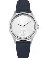 French Connection FC1272U reloj de la correa de cuero azul de las señoras