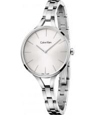 Calvin Klein K7E23146 Las señoras de plata gráfico reloj de pulsera de acero