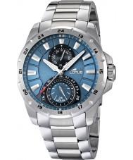 Lotus 15843-2 Para hombre reloj de múltiples funciones de plata azul
